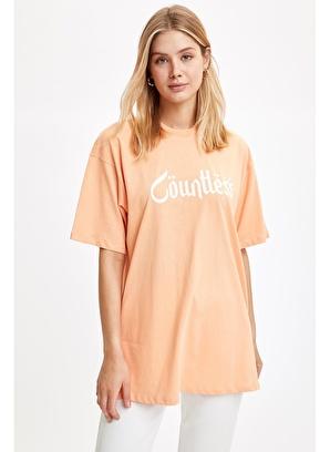 DeFacto Osmanlı Tema Baskılı Oversize Tişört